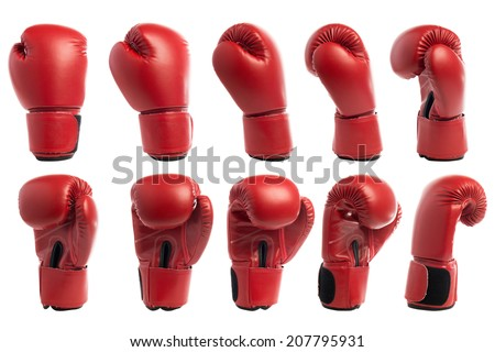 Boxing glove isolated on white background