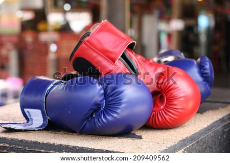 Boxing glove it is good for protecting peoples hand Zdjęcia stock ©