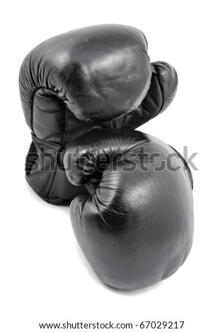 boxing-gloves on a white background - stock photo