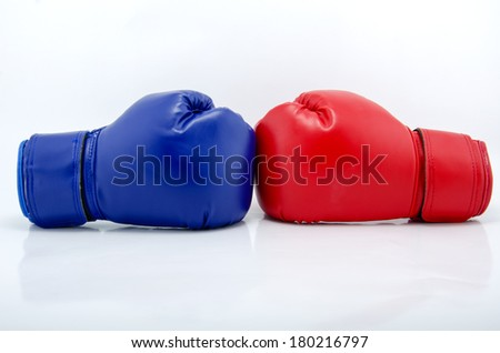 Boxing gloves on a white background close up Zdjęcia stock ©