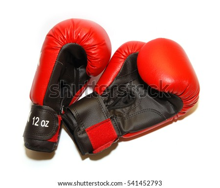 boxing gloves, 12 ounces on a white background
