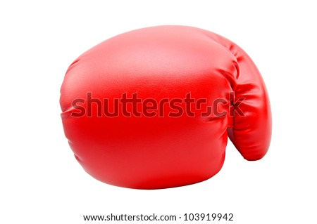 Boxing gloves with white background