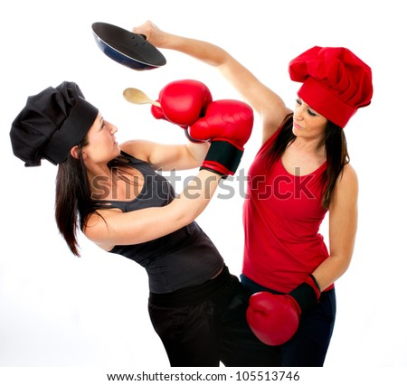 boxing match cook versus chef