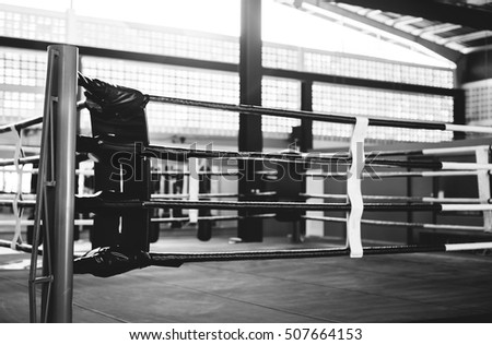 Boxing RIng Arena Stadium Fighting Competitive Sport Concept
