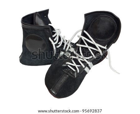 Boxing shoes isolated on white background
