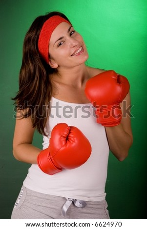 Boxing woman.