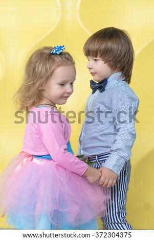 Free Photos Lovely Little Boy And Girl Holding Hands Kids Love