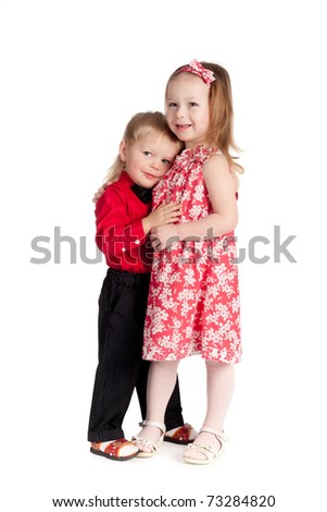 boy and girl hugging