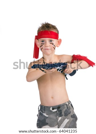 Boy attacks with child's gun