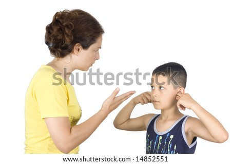Boy confronts his mother