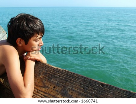 Boy Contemplating the Sea