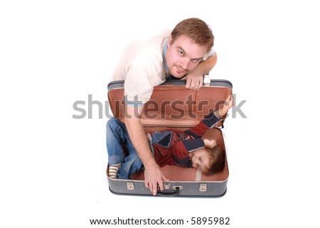 boy in old baggage