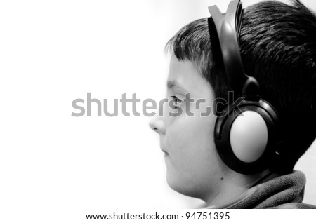 Boy in the headphones