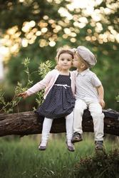 boy kissing a girl