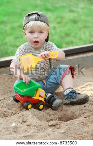 boy little children child play playground color toy sand life outdoor spring sand