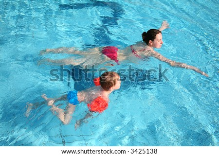 Boy Mother Water Stock Photo 3425138 : Shutterstock