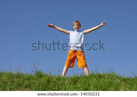 boy outdoor - stock photo