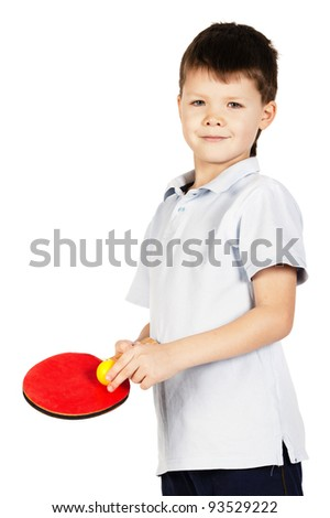boy plays table tennis