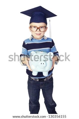 Boy preparing for College Savings Plan
