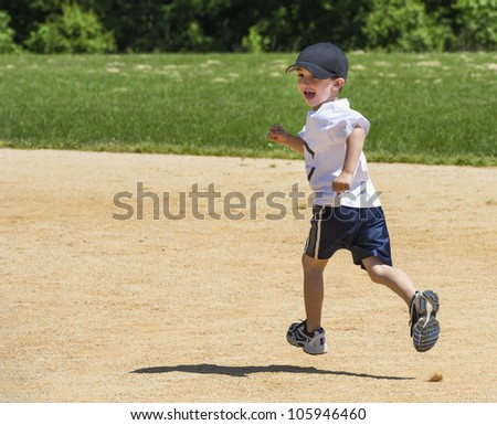 Boy Running the bases
