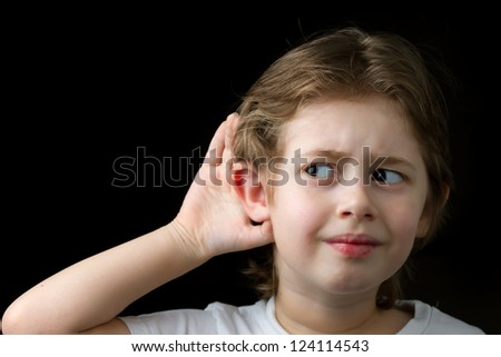 Boy Trying to hear something