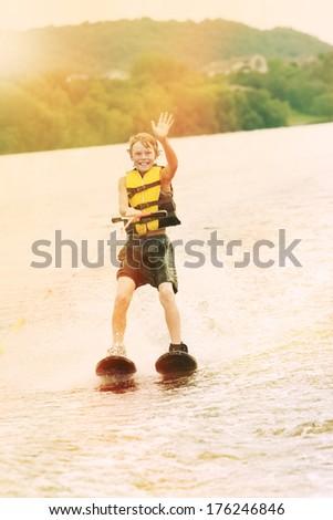 Boy water skiing #176246846