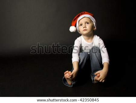 Boy with a christmas cap