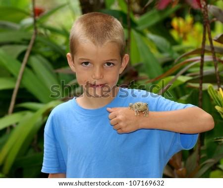 stock-photo-boy-with-a-huge-treefrog-the-gladiator-treefrog-hypsiboas-rosenbergi-in-tropical-rainforest-of-107169632.jpg