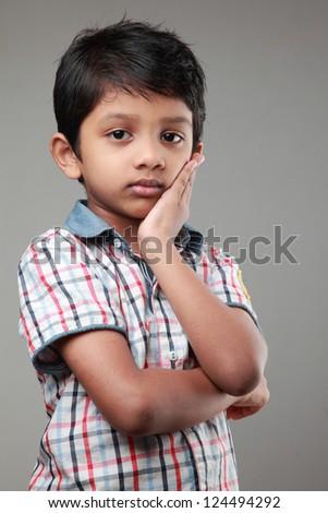 Boy with a sad face