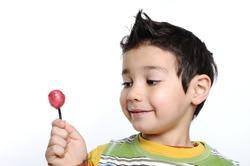 boy with alollipop