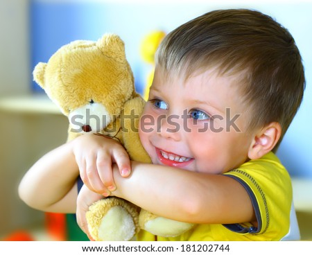 Boy with bear