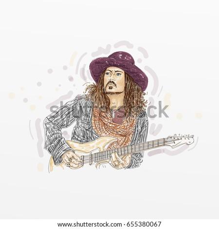 boy with guitar  johnny depp...