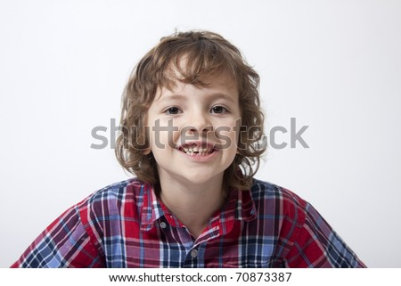 Boy with missing tooth #70873387