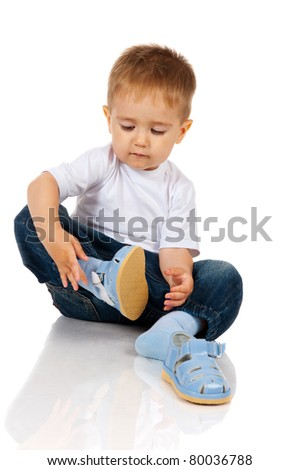 boy with sandals