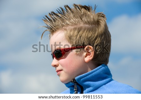 boy with stylish hair