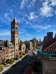 Boylston Street is a major east–west thoroughfare in the city of Boston, Massachusetts. The road begins in Boston's Fenway neighborhood and ends in Downtown Boston.