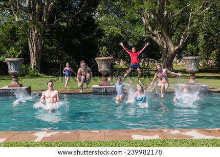 Free Photos Girls Jumping Pool Girls Teenagers Jumping Into Swimming Pool Home Summer