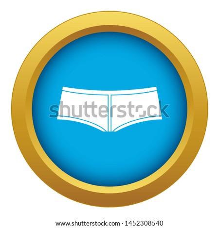 Boyshorts icon blue isolated on white background for any design