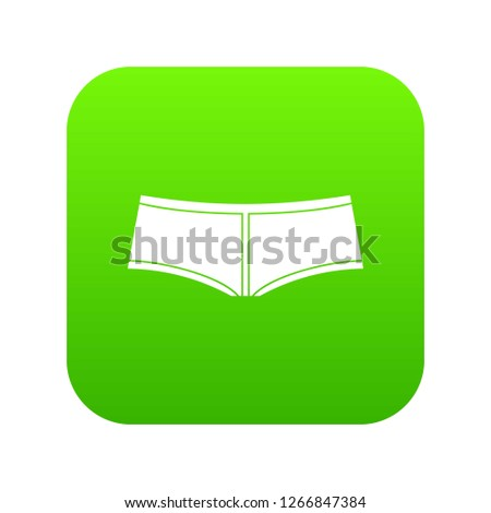 Boyshorts icon digital green for any design isolated on white illustration