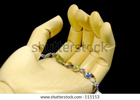 Bracelet Being Displayed on Mannequin Hand
