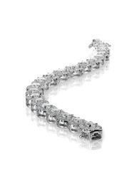 Bracelet diamond tennis bracelet isolated on white