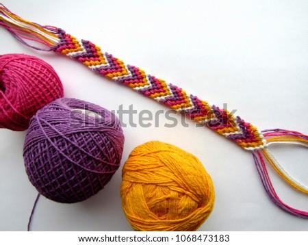 Bracelet woven thread colorful friendship bracelet #1068473183