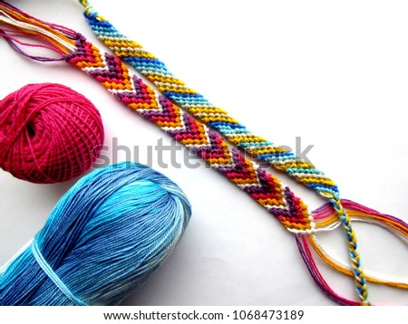 Bracelet woven thread colorful friendship bracelet #1068473189