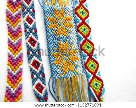 Bracelet woven thread colorful friendship bracelet #1132771091