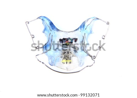 braces isolated on the white background