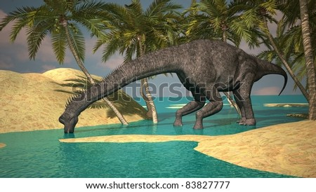 brachiosaurus on bank