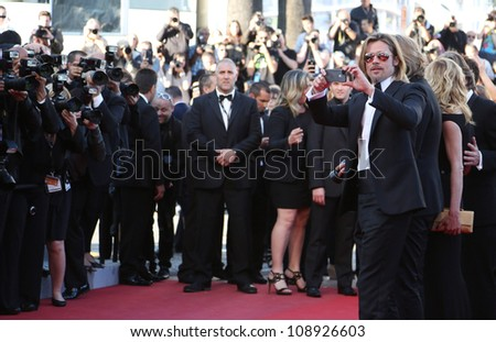 Brad Pitt arriving for the Killing them softly premiere, Cannes Film Festival. 22/05/2012 Picture by: Henry Harris / Featureflash