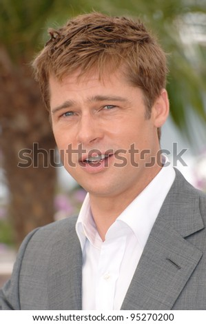 """Brad Pitt at photocall for his new movie """"A Mighty Heart"""" at the 60th Annual International Film Festival de Cannes. May 21, 2007  Cannes, France.  2007 Paul Smith / Featureflash"""