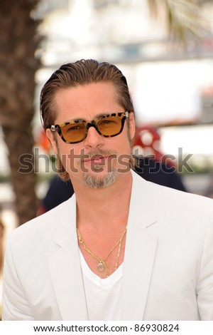 """Brad Pitt at the photocall for his new movie """"The Tree of Life"""" in competition at the 64th Festival de Cannes. May 16, 2011  Cannes, France Picture: Paul Smith / Featureflash"""
