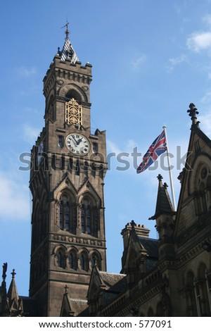 Bradford City Hall - West Yorkshire, UK - stock photo